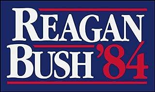 American Vinyl Reagan Bush 84 Vintage Bumper Sticker (Former Elect President)