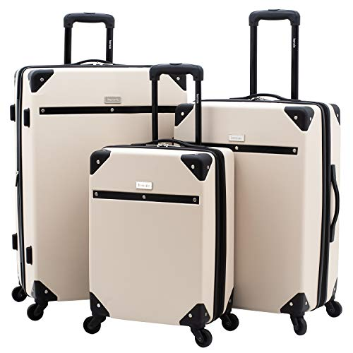kensie 3 Piece Carroll Luggage Set, Sand Dollar