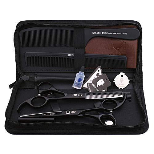 Haarschere Friseurschere Professional Barber Scissors Set Friseur Professional Scissors Set Linkshänder Haar Sparse Scissors Friseurschere 440C, Anzug, 6 Zoll