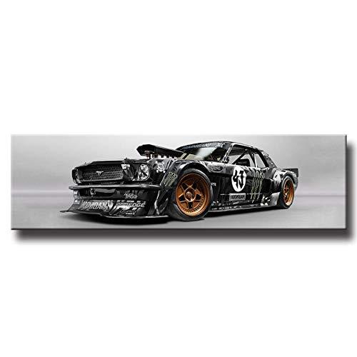 wcyljrb pintura al óleo Arte de la pared del coche cuadros para la sala de estar de noche Decoración Pósteres de coches Deportes Pintura Lienzo HD imprime-30cmx60cm