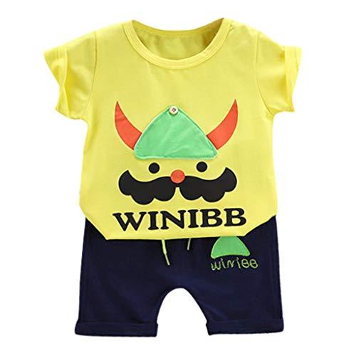 Julhold Peuter Peuter Kids Baby Jongen Leuke Mode CartoonT Shirt Tops Shorts Broek 2 stks Kleding Outfits Set 1-5 Jaar