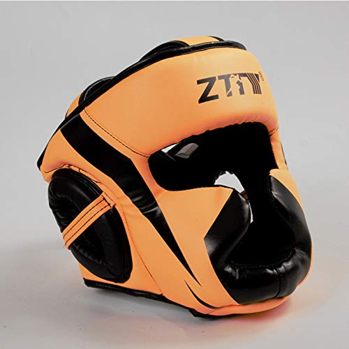 Headguard For Boxing,MMA Training And Kickboxing,PU Leather Head Guard For Face,Cheeks,Ear Protection,Martial Arts Kick Face Fight Training Headgear Sparring Protector,Boxing Head Guard Helmet
