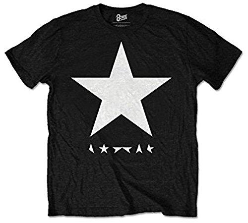 David Bowie ufficiale Blackstar Logo - Mens nero T Shirt Nero M