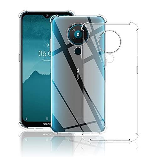 QULLOO Hülle für Nokia 6.3 / Nokia G10 / Nokia G20, Transparent TPU Hülle Schutzhülle Crystal Hülle Durchsichtig Klar Silikon Cover für Nokia 6.3 / Nokia G10 / Nokia G20