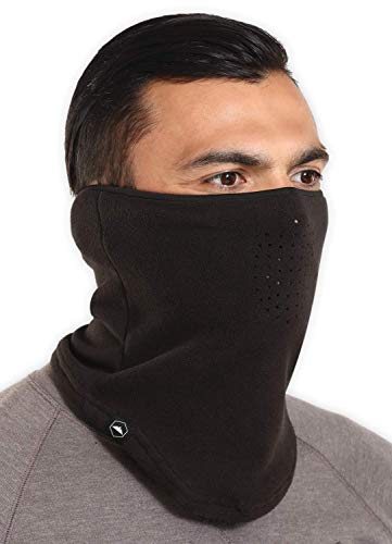 Winter Fleece Neck Gaiter - Face Mask/Half Balaclava for Cold Weather - Thermal Neck Warmer/Cover for Running & Skiing