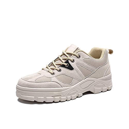 BAN SHUI JU MINSU GUANLI Chaussures De Sport Respirantes for Hommes (Color : Beige, Size : 40)