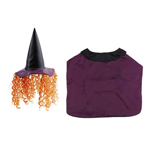 Sharplace Vestido Bruja de Perro Casero Ropa de Mascota Accesorios de Animales Domesticos Fácil de Usar Elegante - L