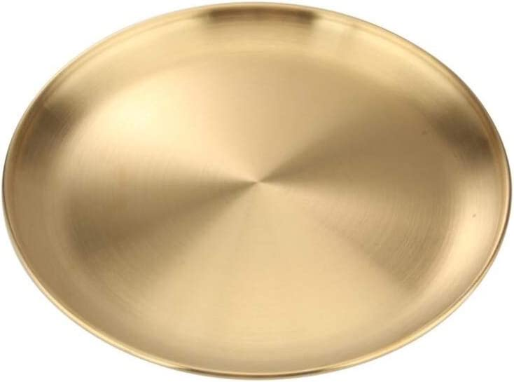 1pcs Dessert Plates Stainless steel NEW before selling fruit plate color gold dish free