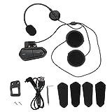 2.4GHz Motorcycle Helmet Stereo Wireless Bluetooth Headset Motorbike FM Radio Earphone, Amp Chip