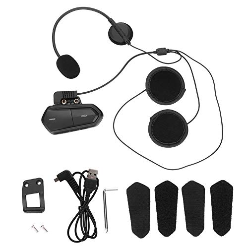 Auriculares de Motocicleta, Casco de Motocicleta de 2,4 GHz, Auriculares inalámbricos con Bluetooth, Radio FM para Motocicleta, Chip Amplificador