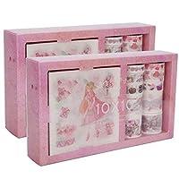 2箱日本のマスキングテープカード/ギフトラッピング学用品用のかわいい和紙テープセット