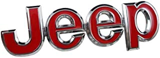 Jeep 4X4 Red Colour Car 3D Metal Chrome Grille Badge Car Decal Logo Badge for SUV'S
