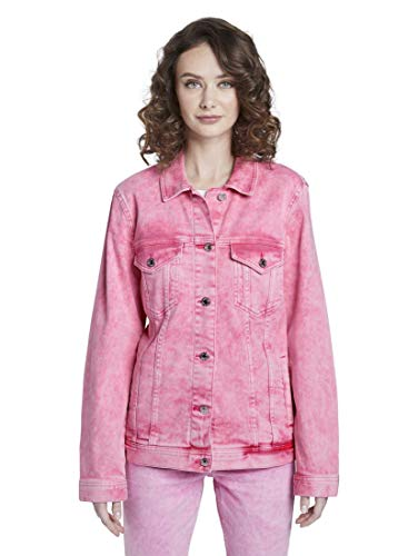 TOM TAILOR Denim Damen Jacken Nena & Larissa: Jeansjacke im Pastell-Washed-Look Washed pink,XS,22307,5455