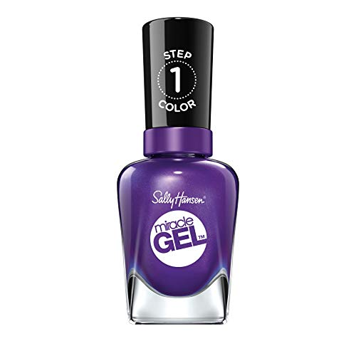 Sally Hansen Miracle Gel Nagellack, 570 Purplexed, dunkles Lila/schimmernd, 15 g