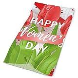 Headwear Happy Womens Day 8. März Blumen Angeln Sport Outdoor Bunte Schal Hals Gamasche Kopfbedeckung Schöne Kopfwickel Schweißband Stirnband Bequemes Gehen Unisex