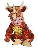 Horror-Shop Rotes Triceratops Dinosaurier Faschingskostüm für Kleinkinder & Babys M