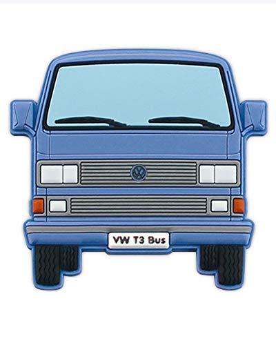 BRISA VW Collection - Volkswagen T3 Bulli Bus Rubber Magnet - Front/blau
