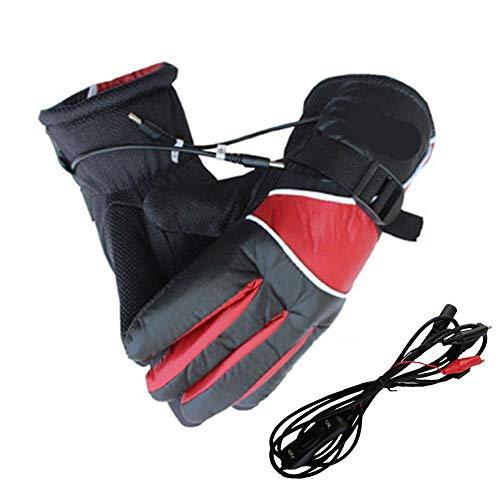 dewdropy - Guantes electrógenos para carga de la moto/calentamiento caliente 12 V calentador guante macho Fiebre (opp)