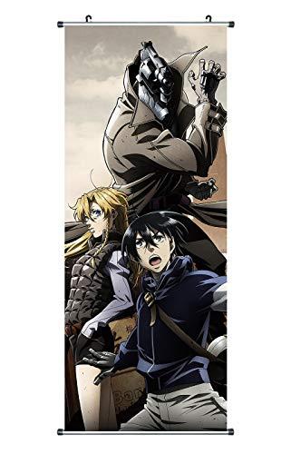 CoolChange Großes No Guns Life Rollbild | Kakemono aus Stoff | Poster 100x40cm | Motiv: Juzo Inui, Tetsuro & Mary