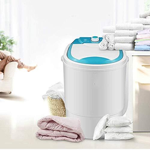 WZM Secadora Bajo Consumo Mudo Portátil Camp Edition - Mini-Lavadora y Centrifugadora Azul Capacidad de 4.5 kg Lavadora para Camping Personas con Bebes y Lavandería
