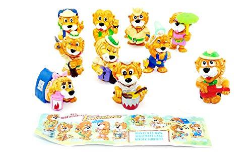 Kinder Sorpresa Ferrero 1993 I Fortissimi Leo Venturas - Serie completa con Cartina
