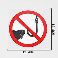 BJRHFN ここ12.4CMX12.4CMは兆候を警告PVCステッカー車のステッカーを釣り禁止します (Color : 1)
