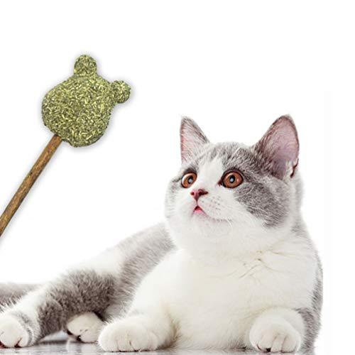 POPETPOP Palos de Hierba Gatera Juguete para Gatos Piruleta de Polígono de Polígono para Mascotas Saludable Natural Que Promueve La Digestión Juguetes de Hierba Gatera para Gatos de