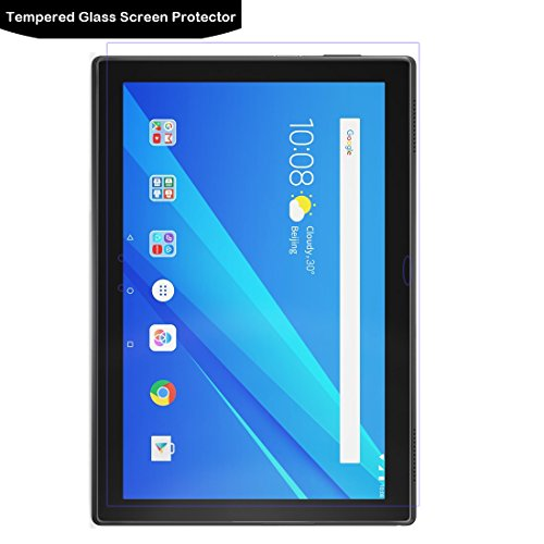 LOKEKE Tempered Glass Screen Protector For Lenovo TAB 4 10.0 Plus,0.3mm Thickness,Made From Real Glass