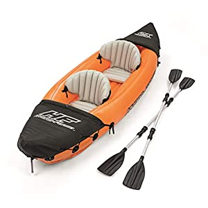Bestway Hydro-Force Rapid X2 Kayak with Oars, 2 Person Capacity, Orange