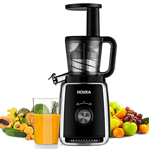 Rovka Slow Masticating Juicer Wide Chute Juice Extractor