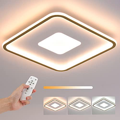 Lámpara de Techo LED, Plafón LED 60W, Multimodo Regulable con Mando a Distancia, Plafón Plano Ultrafino, 4,5cm Espesor Blanco, para Dormitorio, Baño, Habitación Infantil, Pasillo (45x45cm)