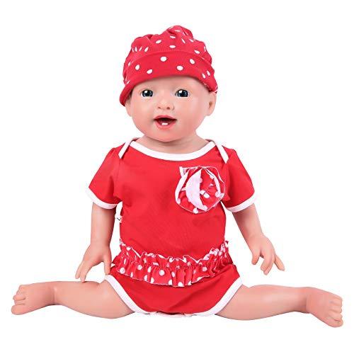 IVITA Silicone Baby Dolls,Not Vinyl Material Dolls,Real Full Body Silicone Reborn Baby Dolls, Soft Newborn Baby Dolls-20inch Girl