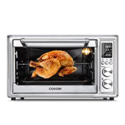 Cosori CO-130-AO 12-in-1 Toaster Oven Convection Roaster with Rotisserie & Dehydrator