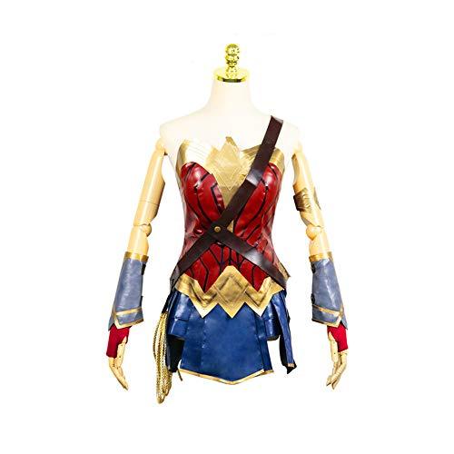 CGBF - Disfraz de mujer maravilla de Halloween Cosplay Superwoman Super Heroine Gladiator Uniforme Discoteca Bar Ropa de juego, XL