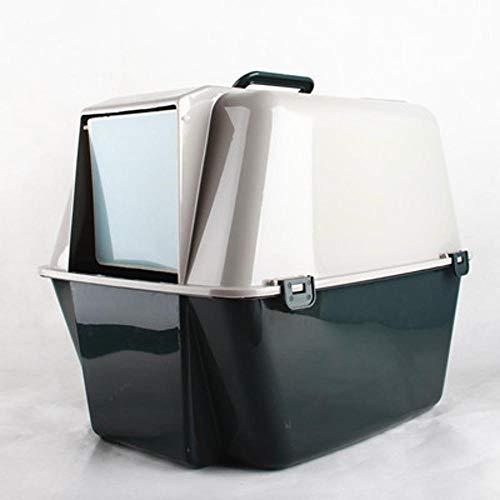 Axiba Huisdier toilet Volledige gesloten kat toilet kat zand wastafel ondoorzichtig grijs
