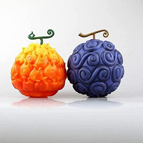 Un Morceau de Fruit de Diable Gomu Gomu No Mi & Mera No Mi Anime Modèle Animation Modèle Periphérique Toys PVC Jouets Set de 2 Modèle Jouets Boîte Modèle Modèle 17cm Figurine