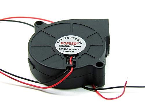 POPESQ® 1 Piezas x Ventilador Blower 12V 50mm x 50mm x 15mm 3D Impresora #A3665