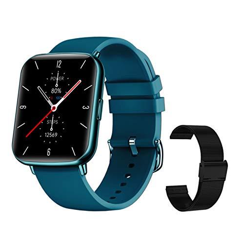 QAK Nuevo X27 Smart Watch Men Waterproof Sports Smartwatch Carey Rate Care Rate Fitness Tracker Women Clock Pulsera para iOS Android,C