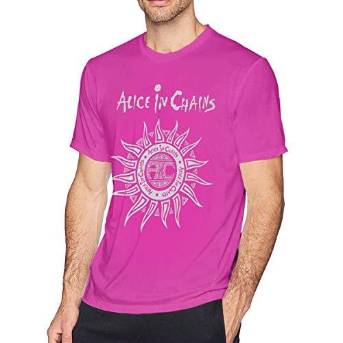 AYYUCY Camisetas y Tops Hombre Polos y Camisas Mens Fashion Alice in Chains T-Shirt Black