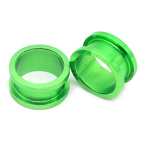 HLWJ 2PC Unisex Auricle Tunnels Ear Plugs Flesh Earring Gauges Screw Ear Stretchers Plugs And Tunnels Body Kit (Color : Green, Size : 4mm)