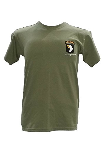 7.62 DESIGN ARMY 101ST AIRBORNE SCREAMING EAGLE BATTLESPACE MENS T-SHIRT BLACK