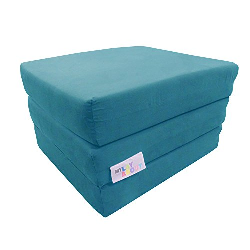 My Layabout Adult Z Bed Memory Foam Fold out/Chairbed/Mattress   10 Colour   Single (Pale Blue)