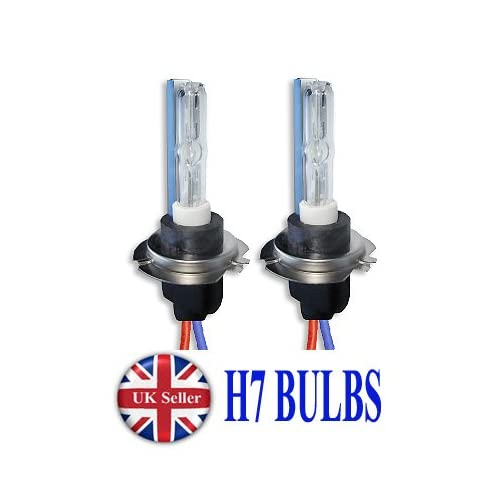 2X BULBS FOR AFTER MARKET HID CONVERSION KIT XENON 6000K ICE WHITE 35W PLUG IN