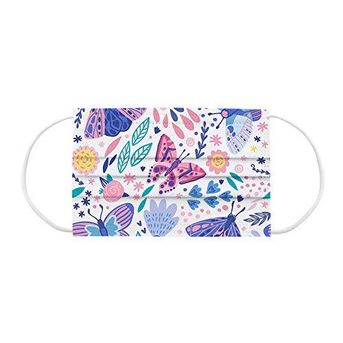 Gaddrt Kinder 10 Stück Schön Schmetterling und Blume Mundschutz Gesichtsschutz Mundschutz Mode Atmungsaktive Mundschutz Halstuch Schals Elastischer Ohrenschützer Atmungsaktive Mundschutz