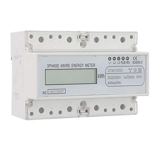 220 / 380V 20-80A Energieverbrauch Digitaler Stromzähler, 3-Phasen KWh Zähler mit Digital LCD KWh Meter