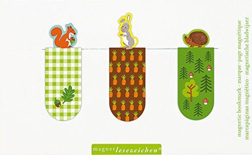 moses. 31123 Magnetlesezeichen Wald- & Wiesentiere 3er Set, magnetisches Lesezeichen, charmant illustriert