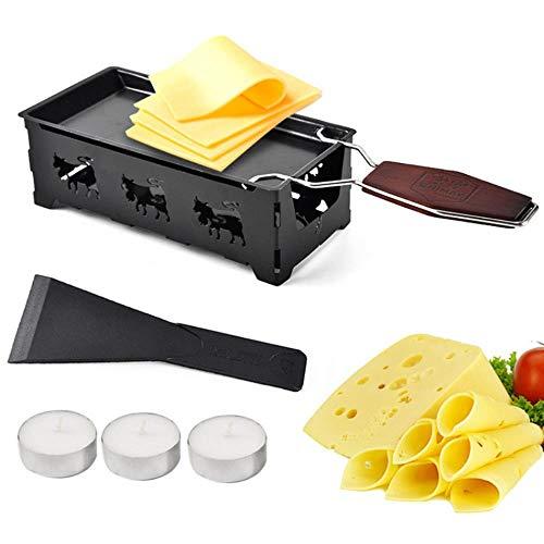 Antihaft-Metallkäse Raclette Backform Backofen Grillplatte Rotaster Backblech Herdrahmen Spatel Set Küche Backwerkzeug