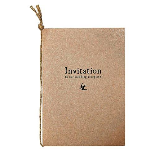【印刷屋さんドットコム】 結婚式 招待状【手作りセット】10枚組 アンティーク インクジェットプリンター 対応 (ダークブラウン)