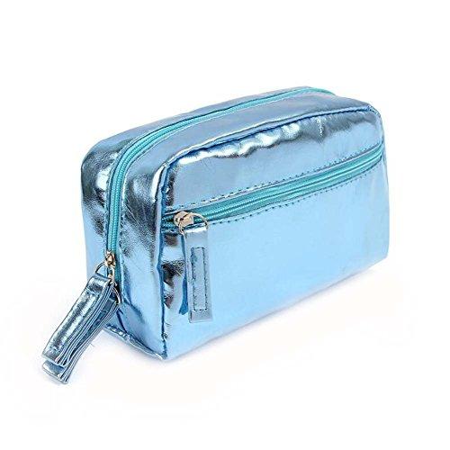 Femmes bleues imperméable sac cosmétique de poche de voyage sac de collection