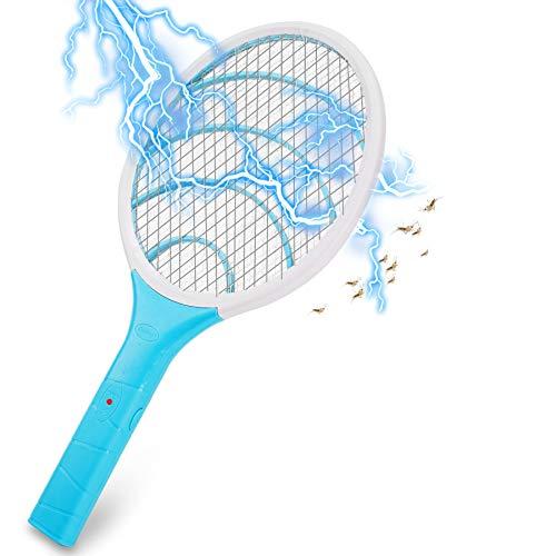 Lukasa Eléctrico Mosquito Mosca Matamoscas Zapper, Plagas Insectos Asesino Repelente Raqueta eléctrica (Azul Cielo)